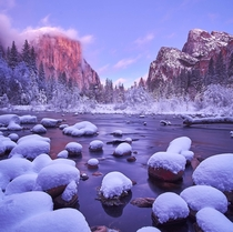 Yosemite in its best winter form Valley View Yosemite CA