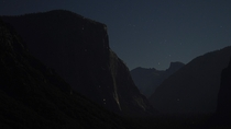 Yosemite National Park -  All the small white dots seen on El Capitan are climbers either in route or resting for the night