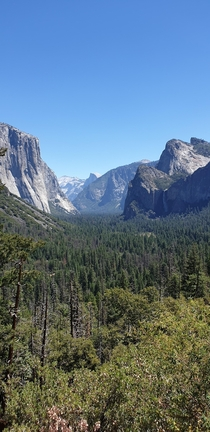 Yosemite National Park from the Tunnel View viewpoint x