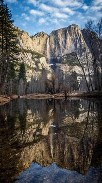 Yosemite reflections on a cold winter morning Yosemite California