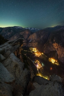 Yosemite Valley as seen from  ft above