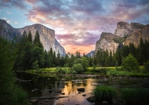 Yosemite Valley California  by James Castle
