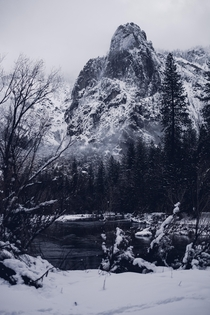 Yosemite Valley in a snowstorm Yosemite CA