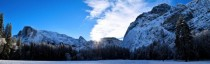 Yosemite Valley Snow Sunrise Panorama