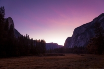 Yosemite Valley Sunset Afterglow Yosemite NP California