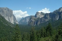 Yosemite Valley with Half Dome in the background