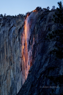 Yosemites Firefall this week Lots of friendly photographers And a couple of clear days OC x