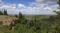 You can see forever into Saskatchewan from Cypress Hills