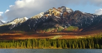 You dont always need autumn to get crazy colours in nature Pyramid Mountain at Jasper National Park AB