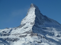 You have to take a whole bunch of pictures of the mighty Matterhorn Zermatt SWITZERLAND