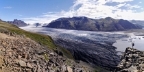 You know its going to be a good hike when you get a view like this in the first  minutes Skaftafell National Park Iceland