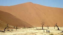 You see the small dots on the top Theyre are people Sossusvlei Namibia