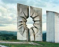 Yugoslavian monument left to rot