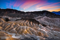 Zabriskie Point Part of Amargosa Range located east of Death Valley in Death Valley National Park in California