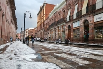 Zacatecas Mexico under a blanket of snow