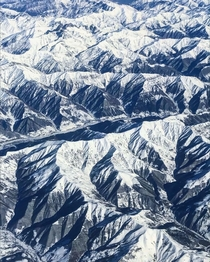 Zagros Mountains from a flight