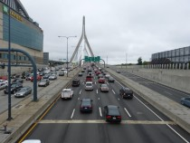 Zakim Bridge and the TD Garden Boston