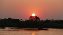 Zambezi River at sunset Livingstone Zambia