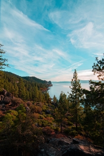 Zephyr Cove Lake Tahoe CA From a roadtrip back in November x OC