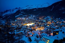 Zermatt at night Switzerland