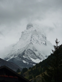 Zermatt CH After a disappointing first day with zero visibility of the mountain I finally got this beauty No color grading