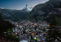 Zermatt the mountain village nestled at the feet of Matterhorn Switzerland