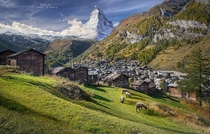 Zermatt village Switzerland  photo by Daniel Metz