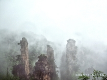 Zhangjiajie China in a blanket of mist   ig henry_mchen