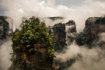 Zhangjiajie National Forest Park the inspiration for Avatars floating mountains  photo by Mitch Serbu