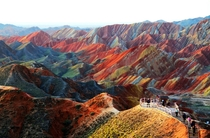 Zhangye Danxia Landform Geological Park in Gansu Province China