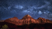 Zion has some amazing sky at night