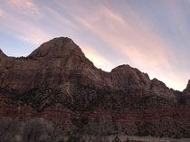 Zion National Canyon Utah First thing in the morning