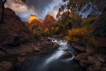 Zion National Park is one of the most beautiful places in fall - Zion NP UT  mattymeis