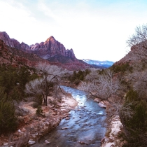 Zion River Canyon at Sunset  IG sexyhippies