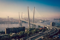 Zolotoy Bridge Vladivostok Russia  By Nick Schultz