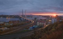 Zolotoy Rog Bay Bridge Vladivostok Russia  photo by EGRA xpost rbridgeporn