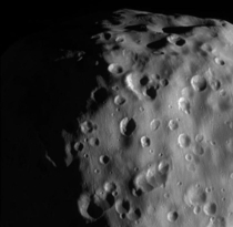 Zoomed-in view of Saturns moon Epimetheus one of the highest resolution ever taken