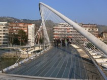 Zubizuri bridge in Bilbao Spain - architecture by Santiago Calatrava